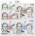 n.o 2785 / 2789 -  Sello Mónaco Correos