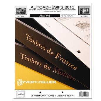 FRANCE AUTOADHESIFS FS : 2015 - 2EME SEMESTRE (jeux sans pochettes)