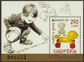 n° 153 - Timbre ALBANIE Blocs et feuillets (EUROPA)