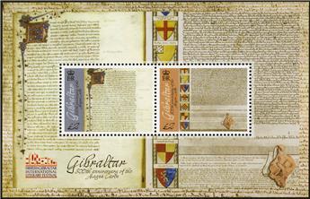 n° 1713/1714 - Timbre GIBRALTAR Poste
