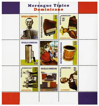 n° 1821A - Timbre DOMINICAINE Poste