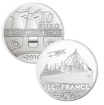10 EUROS ARGENT - FRANCE - L´ILE DE FRANCE