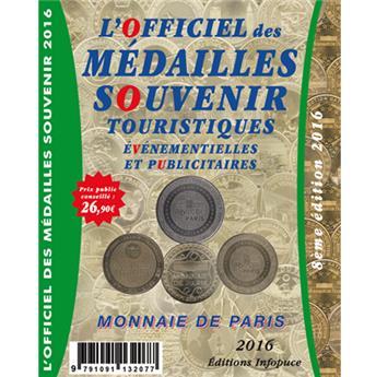 OFFICIEL DES MEDAILLES-SOUVENIR EVM MONNAIE DE PARIS 2016