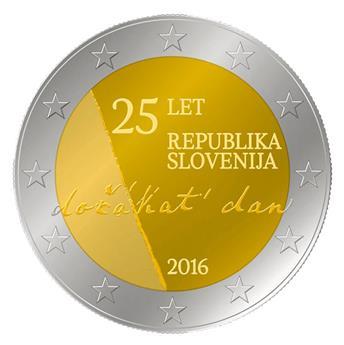 2 EURO COMMEMORATIVE 2016 : SLOVENIE (Indépendance République de Slovénie)