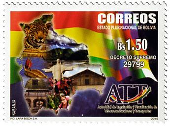 n° 1584 - Timbre BOLIVIE Poste