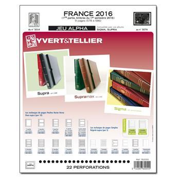 FRANCE ALPHA : 2016 - 1ER SEMESTRE (jeux sans pochettes)