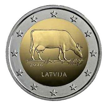 2 EUROS COMMEMORATIFS 2016 : LETTONIE (Agriculture lettone)