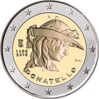 2 EURO COMMEMORATIVE 2016 : ITALIE (Donatello)