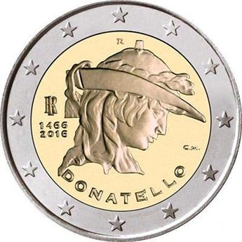 2 EUROS COMMEMORATIFS 2016 : ITALIE (Donatello)