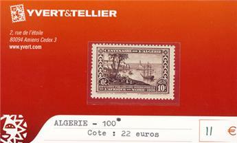 ALGERIE - n° 100 *