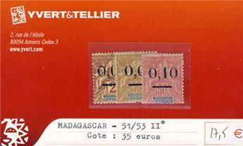 MADAGASCAR - n° 51/53 II*