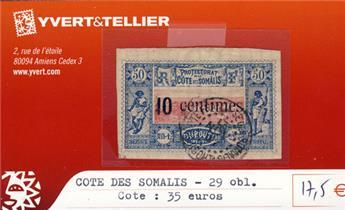 COTE DES SOMALIS - n° 29 Obl.