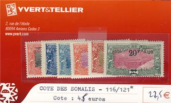 COTE DES SOMALIS - n° 116/121*
