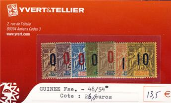 GUINEE - n° 48/54*