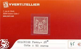 COLONIES FRANCAISES - n° 28*