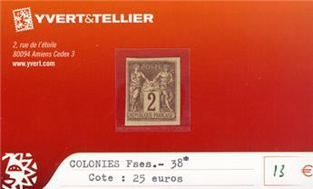COLONIES FRANCAISES - n° 38*