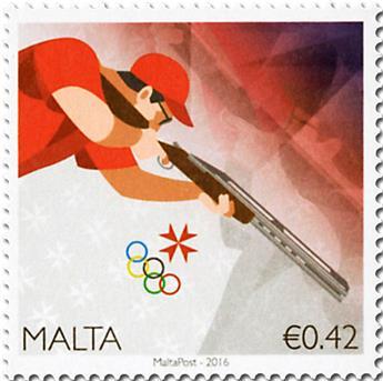 n° 1852 - Timbre MALTE Poste