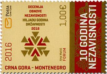 n° 388 - Timbre MONTENEGRO Poste