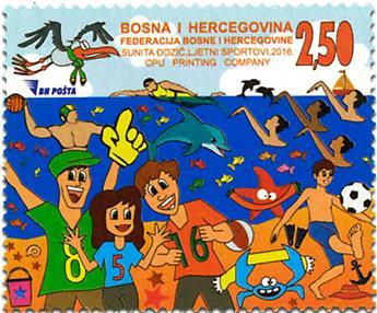 n° 754 - Timbre BOSNIE-HERZEGOVINE Poste