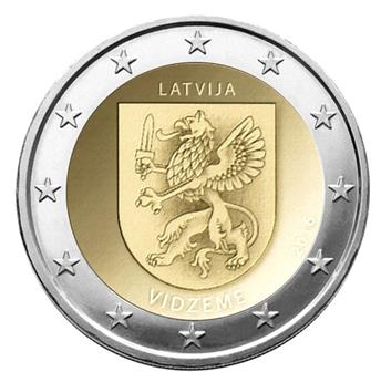 2 EUROS COMMEMORATIFS 2016 : LETTONIE (Vidzeme)