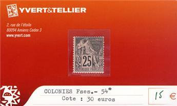 COLONIES FRANCAISES - n° 54*