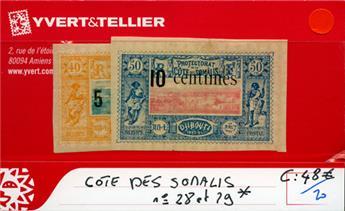 COTE DES SOMALIS - n° 28 et 29*