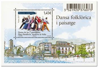 nr. 4 -  Stamp Andorra Souvenir sheets