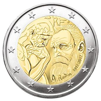 BU : 2 EURO COMMEMORATIVE 2017 : FRANCE (AUGUSTE RODIN)