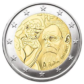 BU : 2 EURO COMMEMORATIVE 2017 : FRANCE (AUGUSTE RODIN)