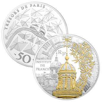 50 EUROS - ARGENT - FRANCE - INSTITUT DE FRANCE BE 2016