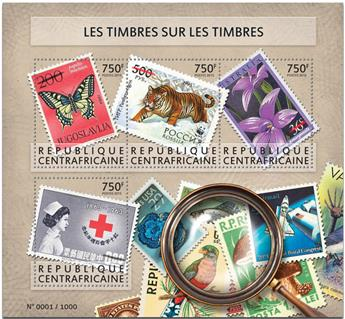 n° 3912 - Timbre CENTRAFRICAINE Poste