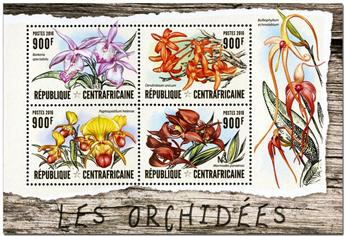 n° 4452  : Timbre CENTRAFRICAINE Poste