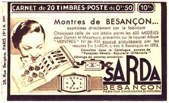 n°283-C62 - Timbre France Carnets