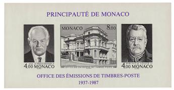 n° 39a -  Timbre Monaco Bloc et feuillets