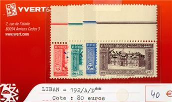 LIBAN - n°192A/192D**