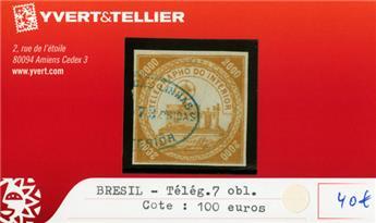 BRESIL - Télégraphe n°7 obl.