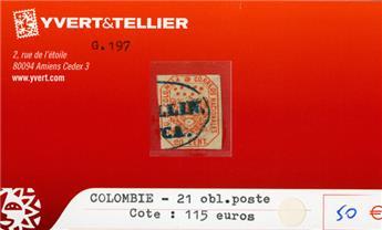 COLOMBIE - n°21 obl.poste