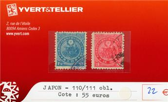 JAPON - n°110/111 obl.