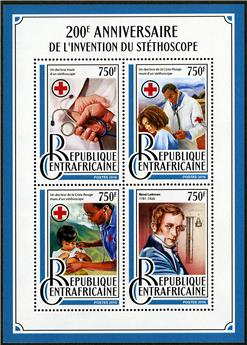 n° 4789 - Timbre CENTRAFRICAINE Poste