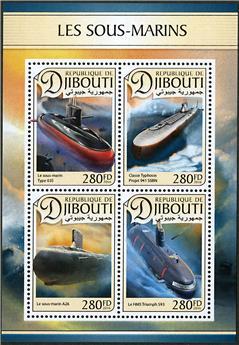 n° 1328 - Timbre DJIBOUTI Poste