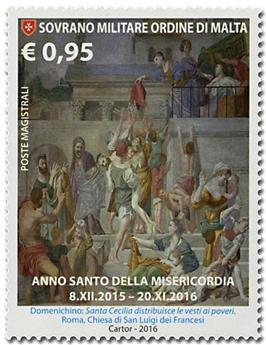 n° 1347 - Timbre ORDRE de MALTE Poste