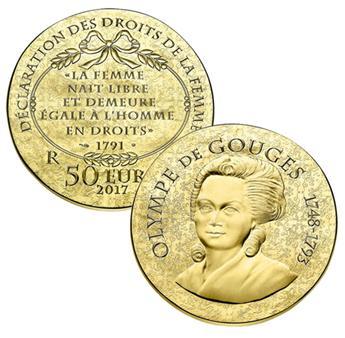 50 EUROS OR - FRANCE - OLYMPE DE GOUGES