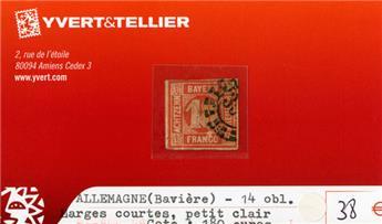 ALLEMAGNE BAVIERE - n°14 obl.