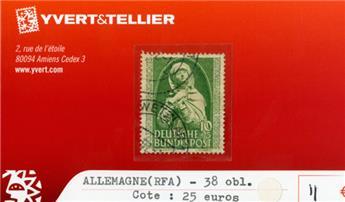 ALLEMAGNE FEDERALE - n°38 obl.