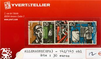 ALLEMAGNE FEDERALE - n°142/145 obl.