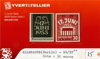 ALLEMAGNE BERLIN - n°96/97**