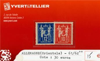 ALLEMAGNE ORIENTALE - n°61/62**