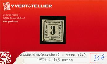 ALLEMAGNE BAVIERE - Taxe 1(*)