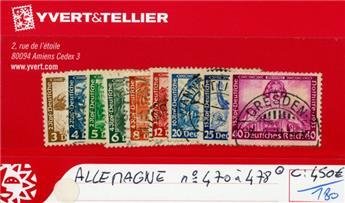 ALLEMAGNE IIIe REICH - n°470/478 obl.