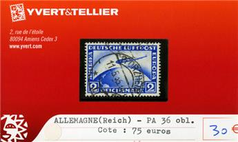 ALLEMAGNE IIIe REICH - PA n°36 obl.